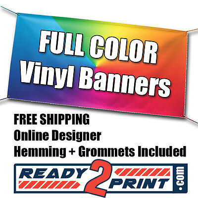 Vertical 6' X 3' Full Color Custom Printed Banner, 13oz Vinyl - FREE SHIPPING