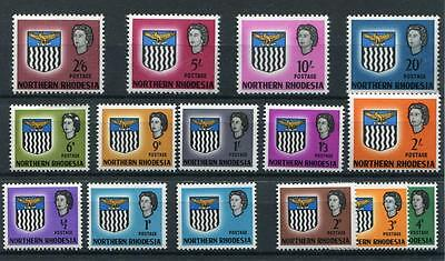 Northern Rhodesia 1963 set MNH/MLH SG75/88 inc 1d with value omitted - see desc