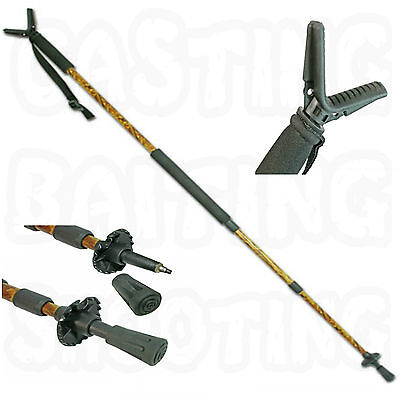 Adjustable Camo Hunting Air Rifle Stick Shooting Gun V Rest Monopod Spike New