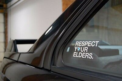 Respect Your Elders BMW Decal EURO Sticker