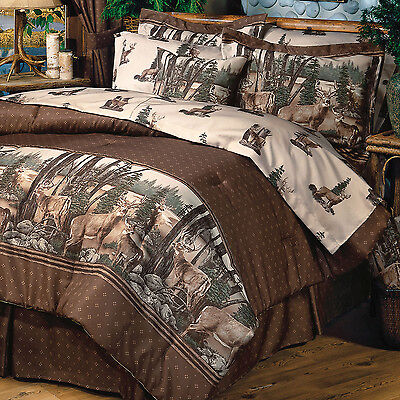 Blue Ridge Trading Whitetail Dreams QUEEN Comforter Set w/sheet set 8pcs Bucks