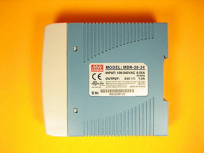 Mean Well  MDR-20-24  Input 100-240VAC Output 24V