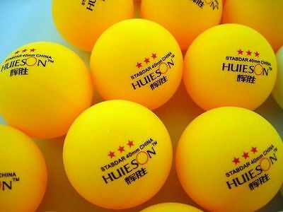 30pcs New 3-Star 40mm Olympic Table Tennis Balls Ping pong Balls orange HUIESON@