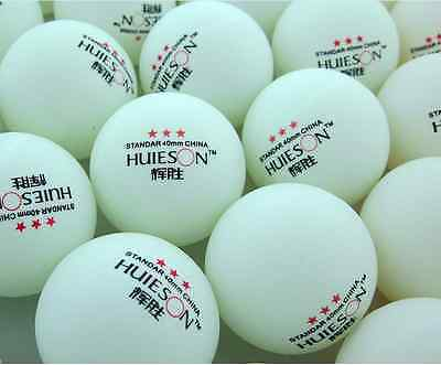 New 50Pcs 3-Stars 40mm Olympic Table Tennis Balls Ping pong Balls White AAA002