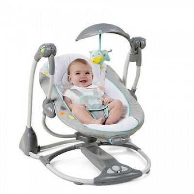 Baby Swing 2 Seat-in-1 Infant Toddler Rocker Chair Portable Convertible Timer