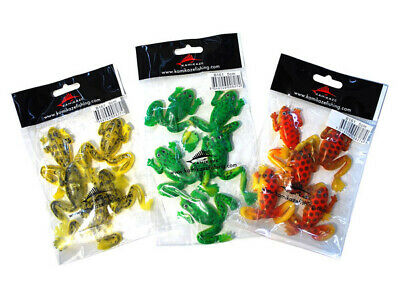 Soft Plastic Frogs - Mixed Colors - 50mm - 15 Pcs