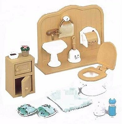 New Sylvanian Families furniture toilet set Doll Accessory free Postage f/s