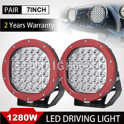 1280W 7inch led Cree driving work lights offroad spotlight Round HID 4WD TRUCK