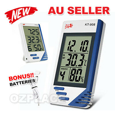 Digital LCD Temperature Humidity Meter Indoor / Outdoor Home Office Thermometer