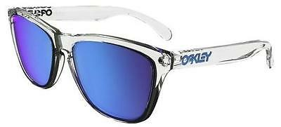 Oakley 9013 Frogskins A6 Crystal Clear Sunglasses Sole Sapphire Iridium
