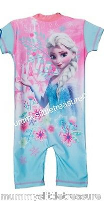 Disney Frozen Uv Swimsuit Sunsuit All In One Various Sizes