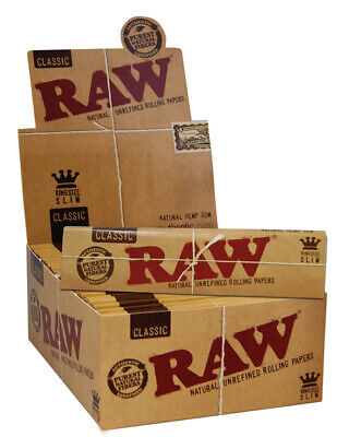 20x RAW King Size slim Classic Premium Papers ungebleicht