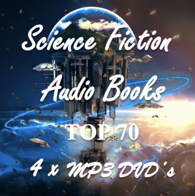 Top 70 Science Fiction Audio Book Collection 12GB on 4 x MP3 DVD's 600 Hours!