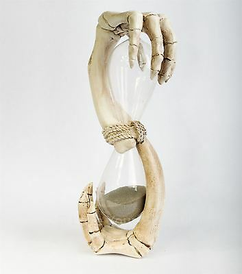 Hands of Time 1 Minute Sand Timer 20.5cm High Gothic Hour Glass Nemesis Now