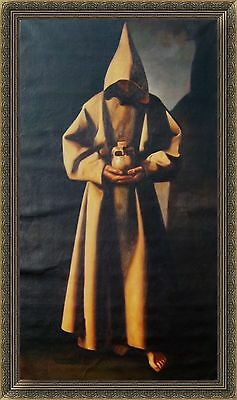 Francisco de Zurbaran Oil Painting repro St Francis of Assisi in his Tomb