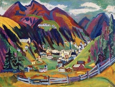 Ernst Ludwig Kirchner View of Davos Handmade Oil Painting repro
