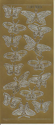 Peel Off Stickers - Butterflies - Set of 10 - Available in 7 styles