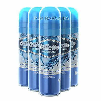 Gillette Endurance Cool Wave Anti-Perspirant Deodorant 150Ml Can 6 Pack