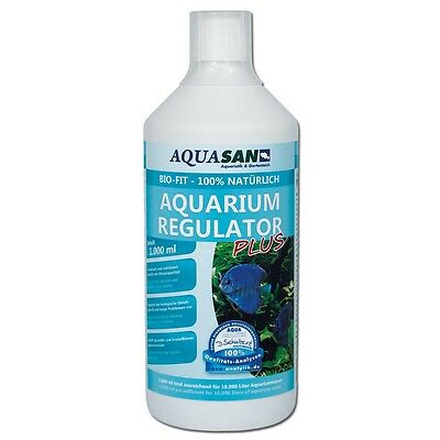(17,99€/l) AQUASAN Bio-Fit Aquarium Regulator 1000 ml natürlich, Mikroorganismen