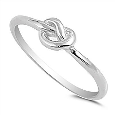 Sterling Silver .925 Women's Infinity Love Knot Fashion Promise Ring Size 4-10