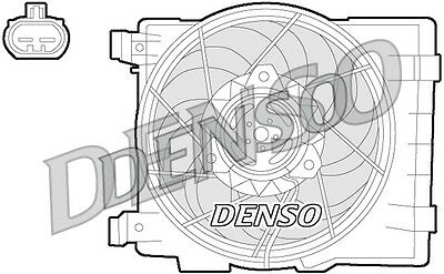 Denso Engine Cooling Fan DER20015 Replaces 1341332-6341164