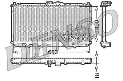 Denso Radiator DRM45010 Replaces MB925637 732524
