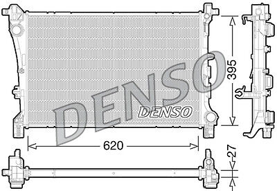 Denso Radiator DRM09167 Replaces 51888085