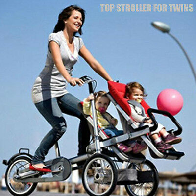 Taga Style Twin bike / stroller Folding Bicycle 2 Baby Seats Bike