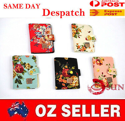 Min 22 Bank Cards Holder Flower Business Name Card Organiser Ladies Wallet Purse