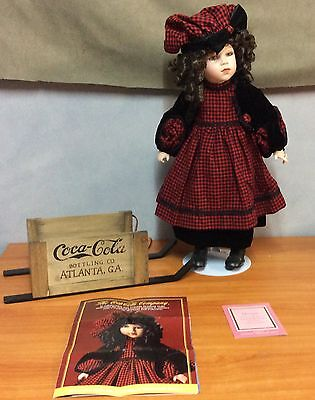 """Morgan Coca-Cola Limited Edition Franklin Heirloom Porcelain Doll -19"""" in height"""