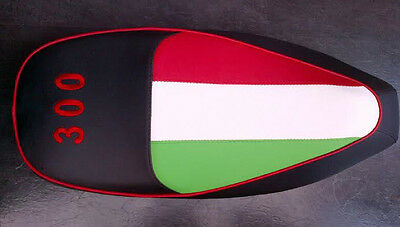 To Fit Vespa Gts 300 With Logo Custom Seat Cover Italian Flag