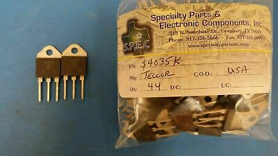 (2 PCS) S4035K TECCOR Thyristor SCR 400V 35A 3-Pin(3+Tab) TO-218