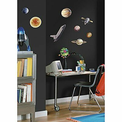 Space Planets Stars Wall Decals Astronomy Science Solar System Art Decoration