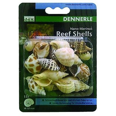 Dennerle Nano Marinus Reef Shells, Hermit Crab Marine, Decor, Aquarium Fish Tank