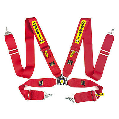Sabelt Universal Red 4 Point Camlock Quick Release Racing for1 Seat Belt Harness