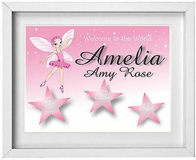 BABY GIRL | Personalised | Print |Birth Christening Gift | FREE POST| (NP099)