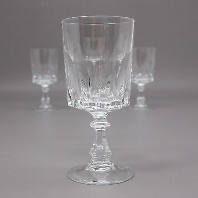 Set of 4 White Wine Cristal D'arques Durand Louvre Glass 24% Lead Crystal Lot