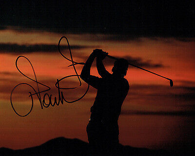 Ian POULTER SIGNED Autograph 10x8 Sunset Photo AFTAL COA GOLF