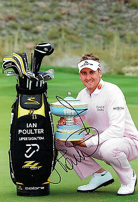 Ian POULTER SIGNED Autograph Accenture Match Play 12x8 Photo AFTAL COA GOLF