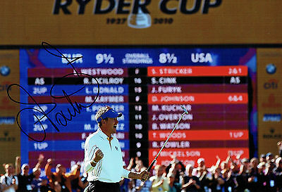 Ian POULTER SIGNED Autograph Ryder Cup Golf Celebration 12x8 Photo AFTAL COA