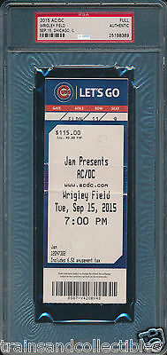 2015 Ac/dc At Wrigley Field Full Concert Ticket Psa Authentic #25198389