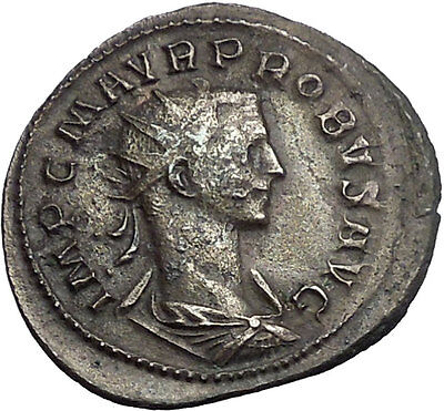 Probus 276AD Rare Ancient Authentic Roman Coin Mars War God i55116