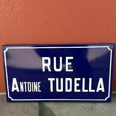 Old French Street Enameled Sign Plaque - vintage tudella