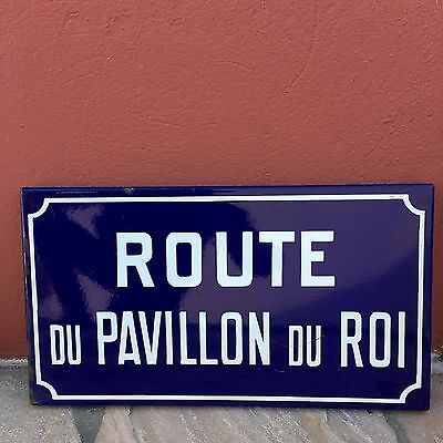Old French Street Enameled Sign Plaque - vintage roi