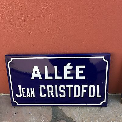 Old French Street Enameled Sign Plaque - vintage christofol 2