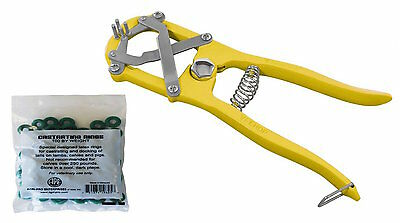 Heavy Duty Elastrator Castration Tail Docking Livestock Dogs + 100 Bands