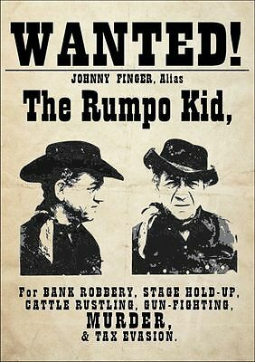 Sid James The Rumpo Kid Carry on Cowboy WANTED Great POSTER