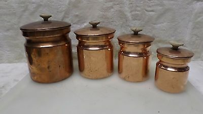 Vintage Nesting Copper Canister Set - Italy  A4329