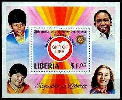 Liberia - 1979 - Rotary International - Children - Gift Of Life - Mint S/sheet!
