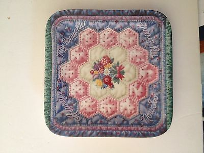 """Bradford Forever My Daughter """"always My Daughter"""" Plate #1 Quilt Mary Ann Lasher"""